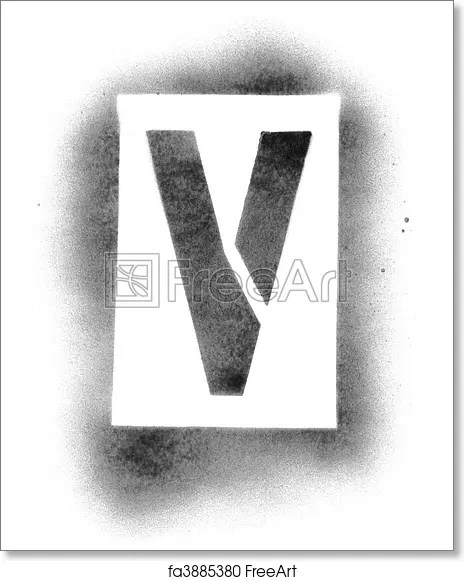 Free art print of Stencil letters in spray paint FreeArt fa3885380