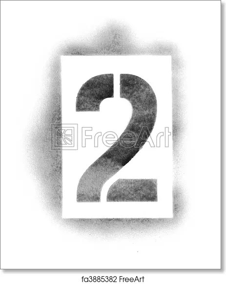 Free art print of Stencil numbers in spray paint FreeArt fa3885382