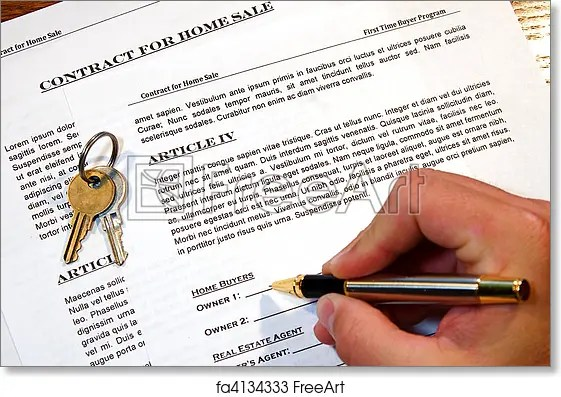 Free art print of Contract of Home Sale Contract for the sale of a - free home sale contract