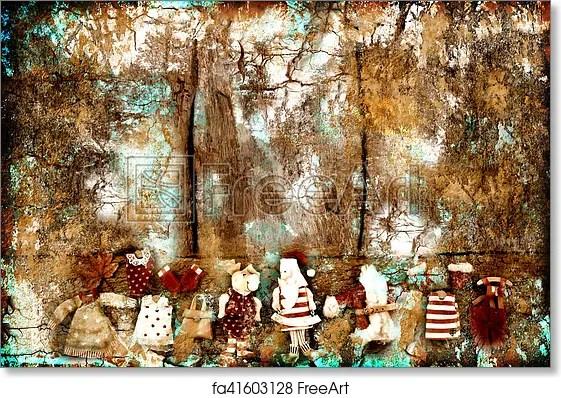 Free art print of Christmas Santa Claus grunge background Christmas