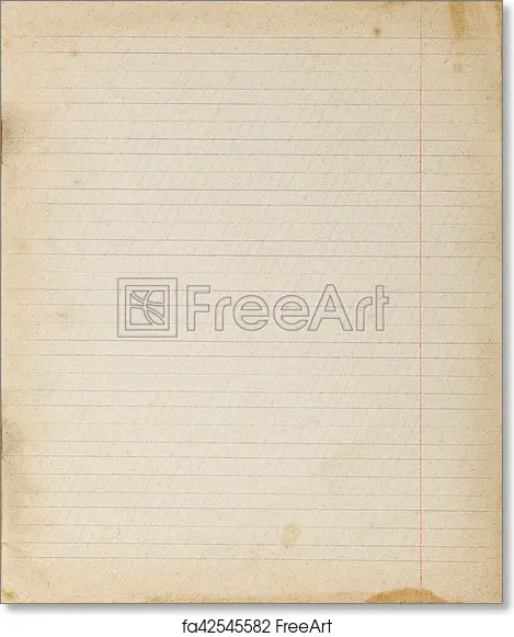 Free art print of Vintage lined paper background Vintage lined - line paper background