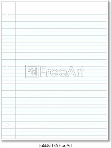 Free art print of Perfect sheet of three holed lined paper Perfect - free lined paper to print