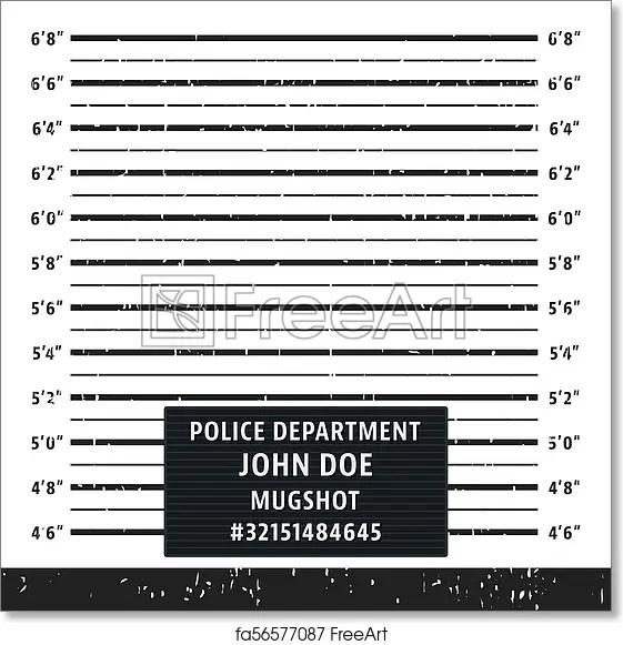 Free art print of Police mugshot lineup board Police mugshot board