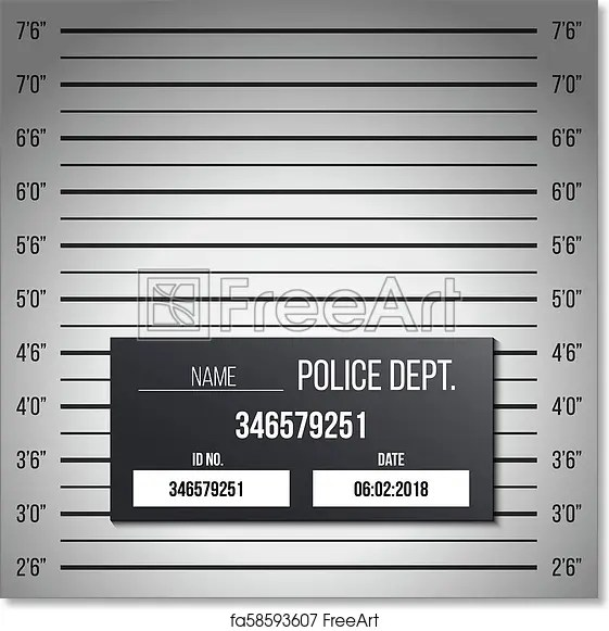 Free art print of Creative vector illustration of police lineup