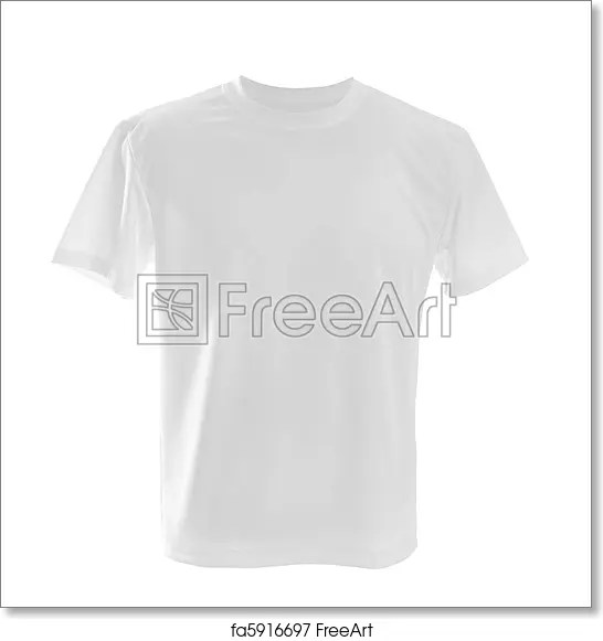 Free art print of White t-shirt White T-shirt ?an be used as design