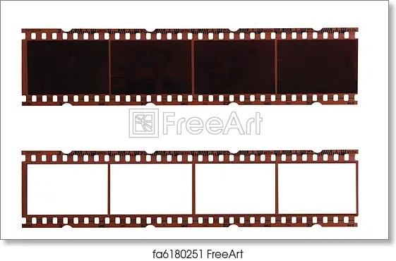 Free art print of Film strips Two trips of negative films isolated