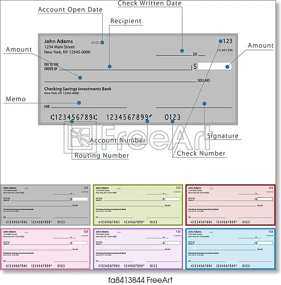 Free art print of Blank Check Diagram An image of a blank check