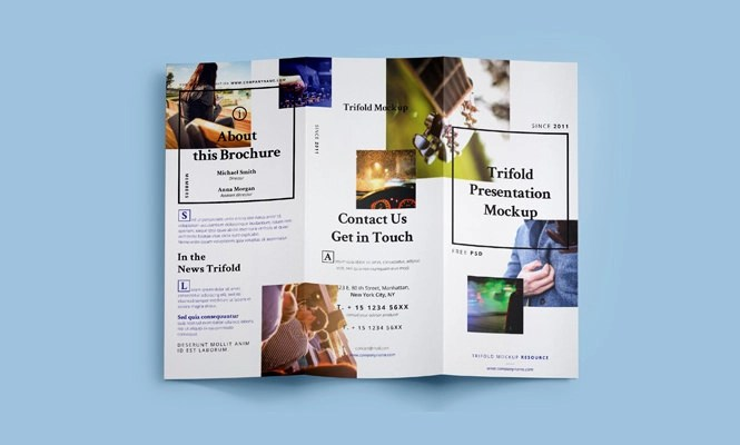25+ Tri-folder Brochure Mockups - PSD, Vector EPS, JPG Download