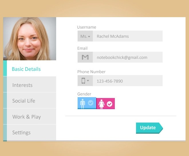 25+ App Profile Page Designs - PSD, Vector EPS, JPG Download - profile templates
