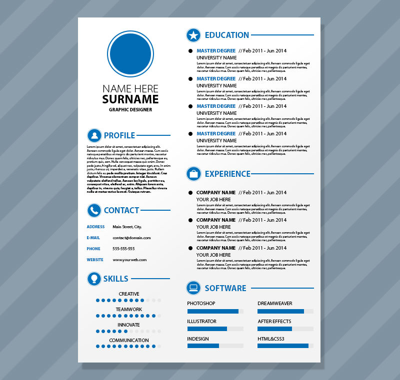 40+ Resume Template Designs FreeCreatives - creative resume template free