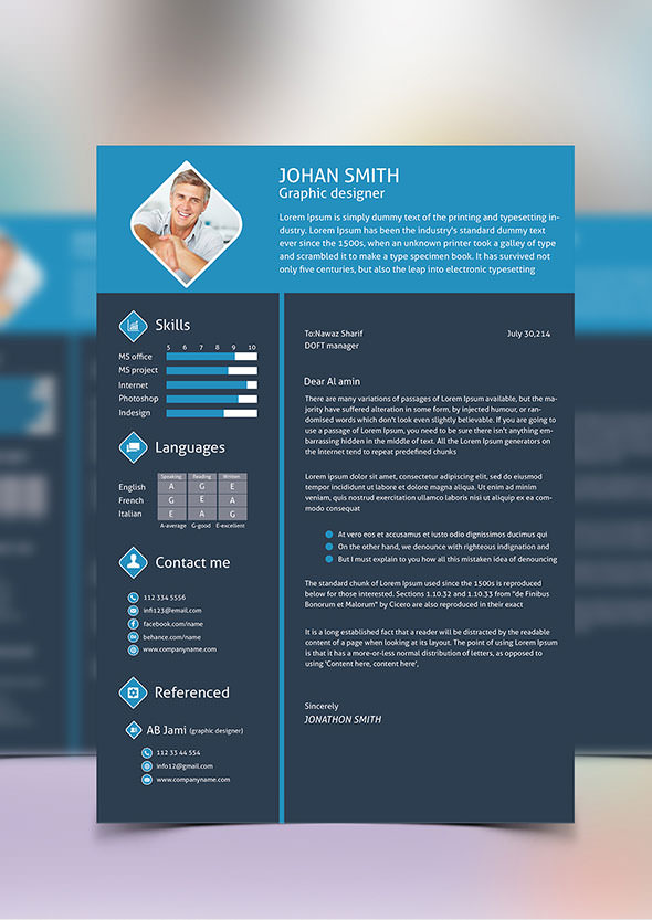 40+ Resume Template Designs FreeCreatives