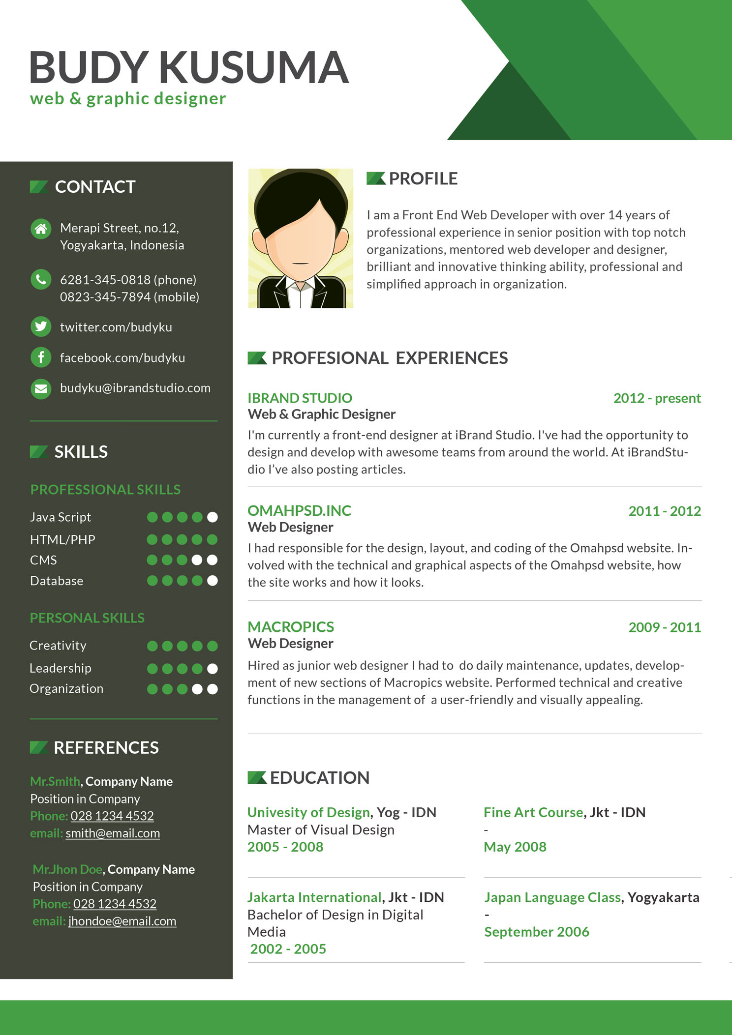 template cv design download
