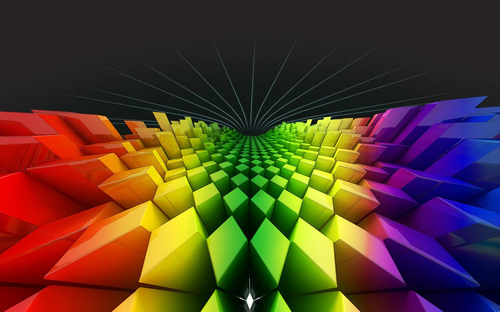 3d Colours Wallpaper Heart 20 Hd Rainbow Background Images And Wallpapers Free