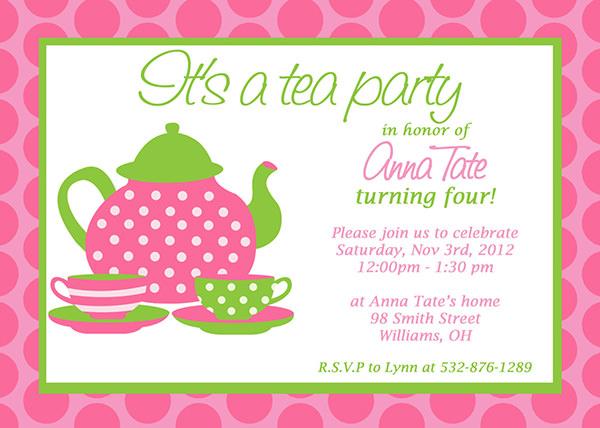 10+ Party Invitation Templates FreeCreatives - tea party invitation template