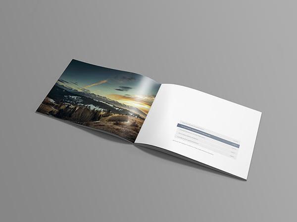 15+ Free PSD A4 Landscape Brochure Mockups FreeCreatives