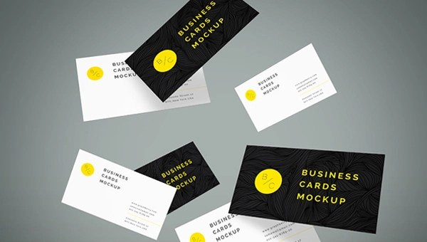 54+ Free Business Card Mockups - AI, Word, PSD
