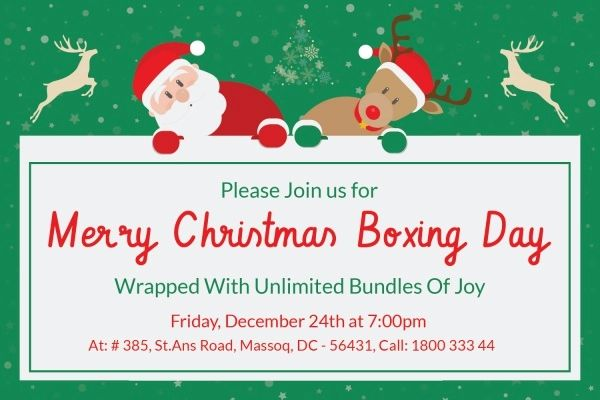 free templates for christmas invitations
