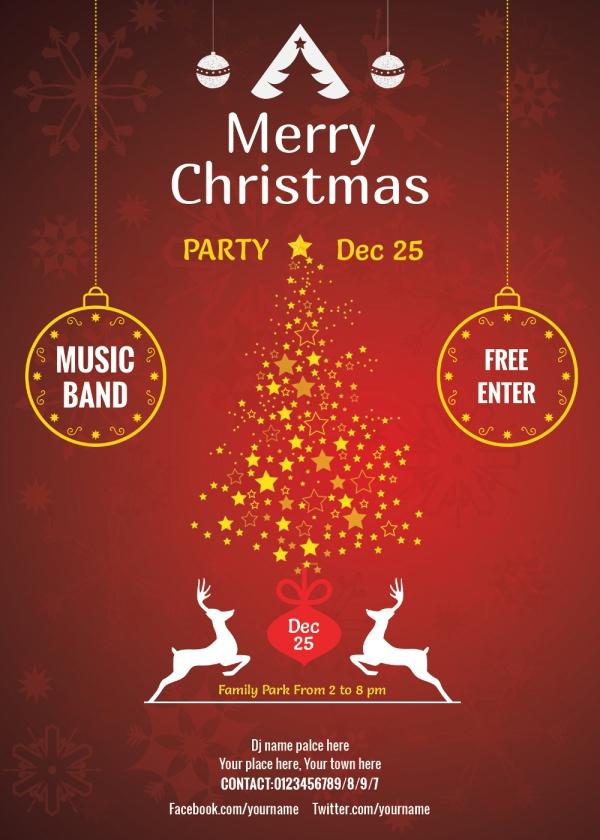 merry christmas party invitation - zrom