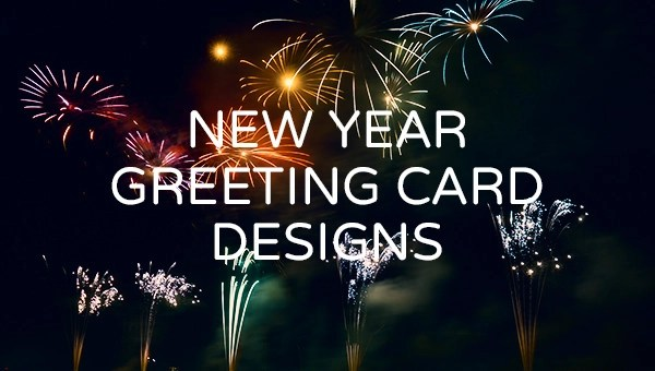 16 Free PSD New Year Greeting Card Designs FreeCreatives
