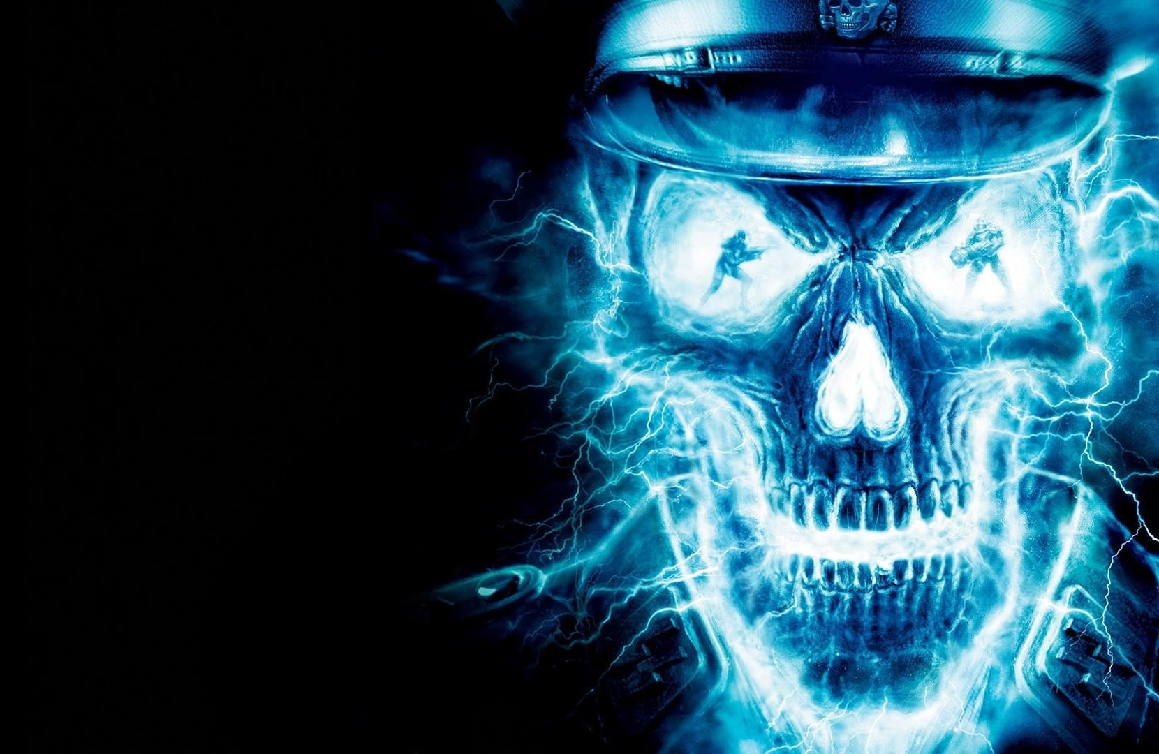 Cool 3d Skull Wallpapers 30 Black Amp Blue Backgrounds Wallpapers Freecreatives