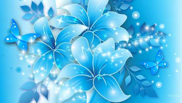 20+ Blue Flower Backgrounds Wallpapers FreeCreatives - blue flower backgrounds