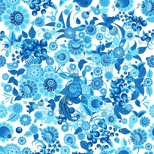 Cute Bordered Pastel Flower Wallpaper 15 Blue Floral Patterns Flower Patterns Freecreatives