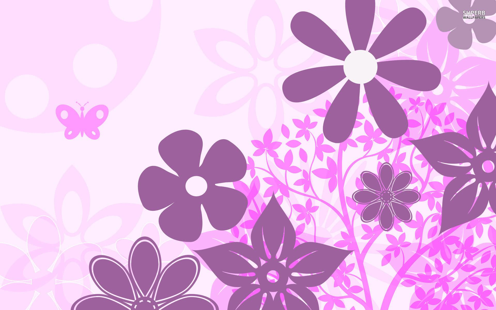 Wallpaper Hd Floral 10 Purple Floral Wallpapers Floral Patterns Freecreatives