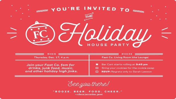 21+ Holiday Party Invitation Designs - PSD, Vector EPS, JPG Download