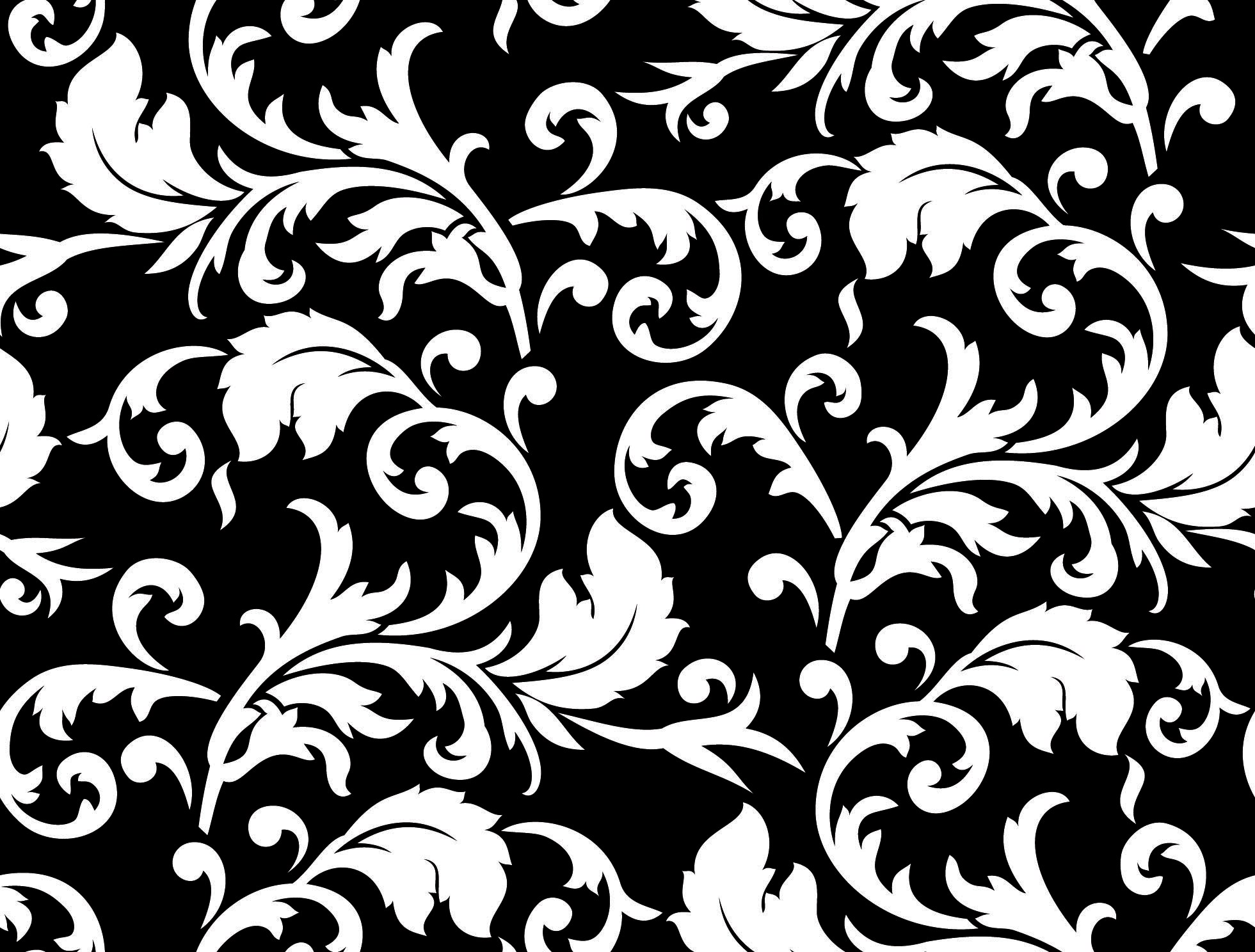 Free 9 Black And White Floral Patterns In Psd Vector Eps