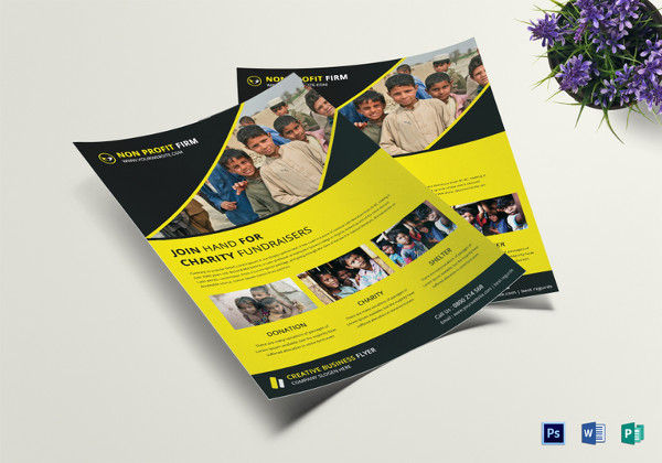 39+ Elegant Fundraising Flyer Templates - Word, PSD, AI , EPS Vector
