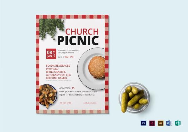 Church Picnic Flyer Templates - Costumepartyrun