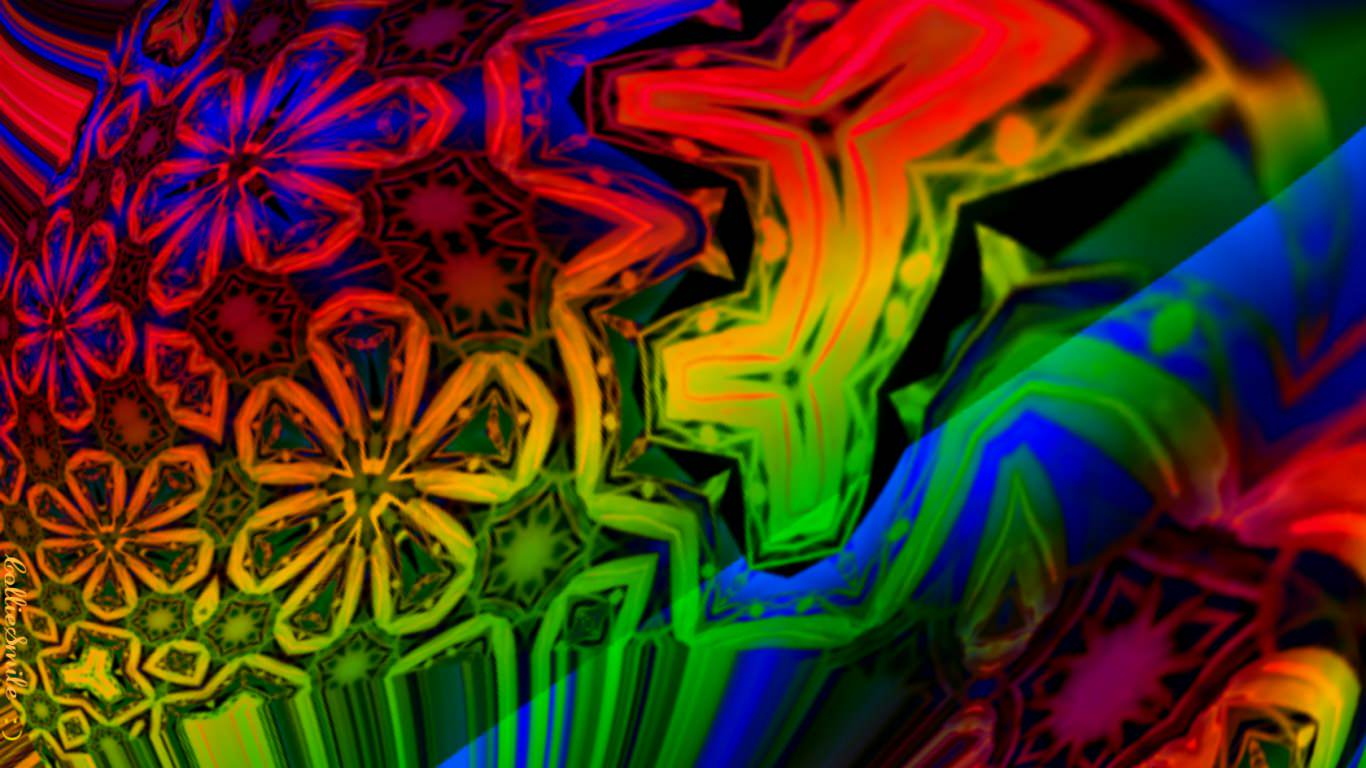 3d Rainbow Psychedeli Wallpaper 19 Hippie Backgrounds Wallpapers Images Freecreatives