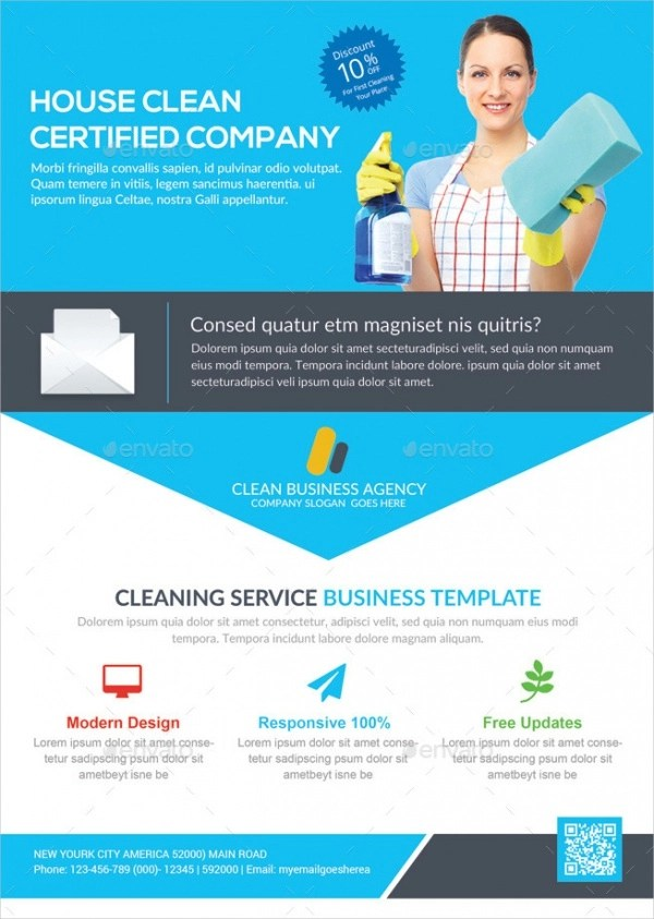 20+ Cleaning Service Flyer Designs - PSD, Vector EPS, JPG Download - house cleaning flyer template
