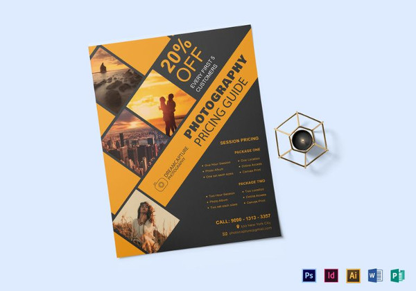34+ Photography Flyers - PSD, Vector EPS, JPG Download FreeCreatives - pricing brochure template