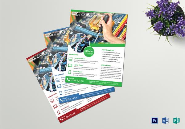 24+ Computer Flyer Templates - PSD, Vector EPS, JPG Download - computer repair flyer template