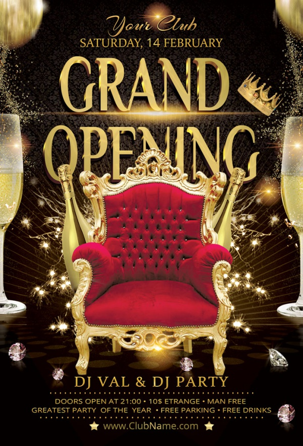 30+ Grand Opening Flyers - PSD, Vector EPS, JPG Download FreeCreatives