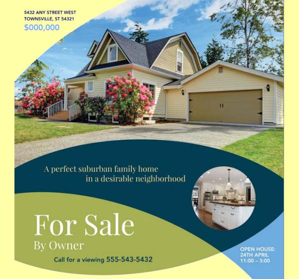 20+ Real Estate Flyer Templates - PSD, Vector EPS, JPG Download - home for sale brochure