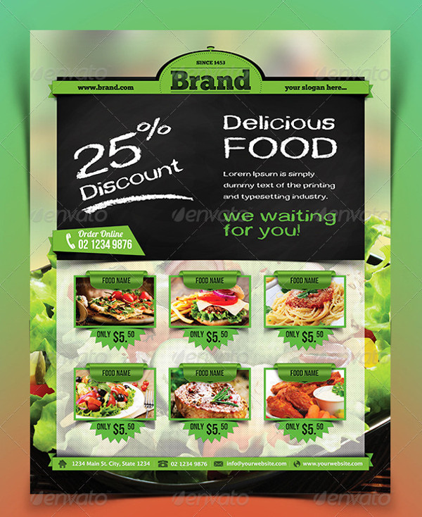 28+ Food Flyer Templates - PSD, Vector EPS, JPG Download FreeCreatives - food flyer template