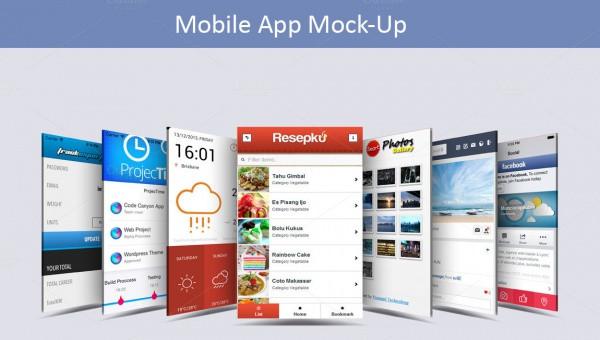 15+ Mobile App Mockups FreeCreatives