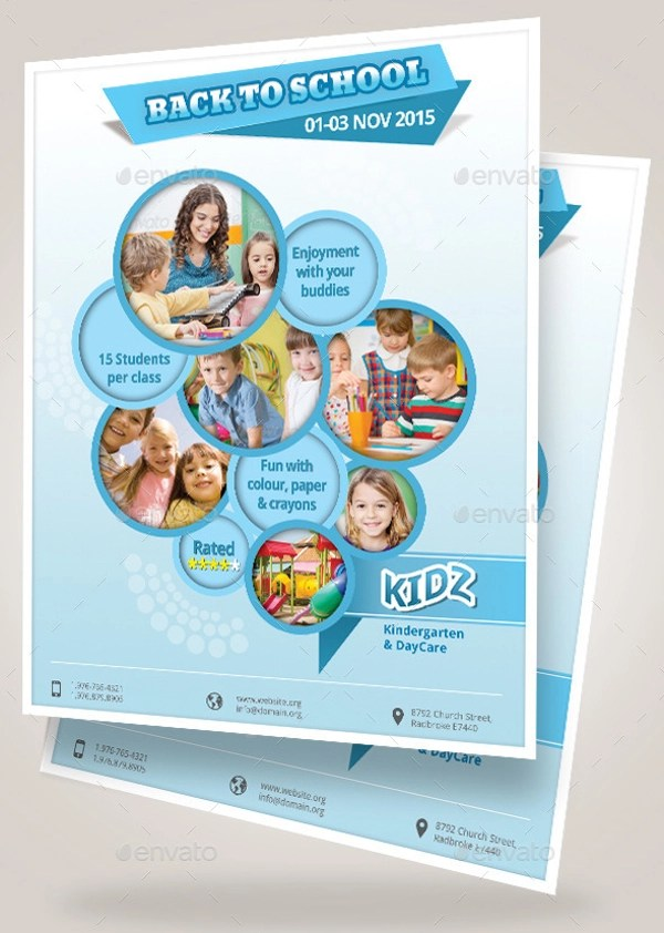 28+ Daycare Flyers - PSD, Vector EPS, JPG Download - daycare flyer template