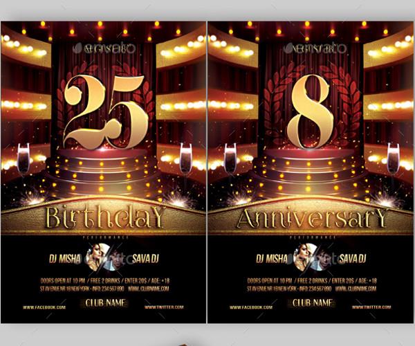 25+ Anniversary Flyer Templates - PSD, Vector EPS, JPG Download - anniversary flyer