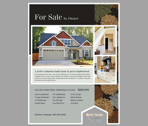20+ Real Estate Flyer Templates - PSD, Vector EPS, JPG Download - house for sale flyer template
