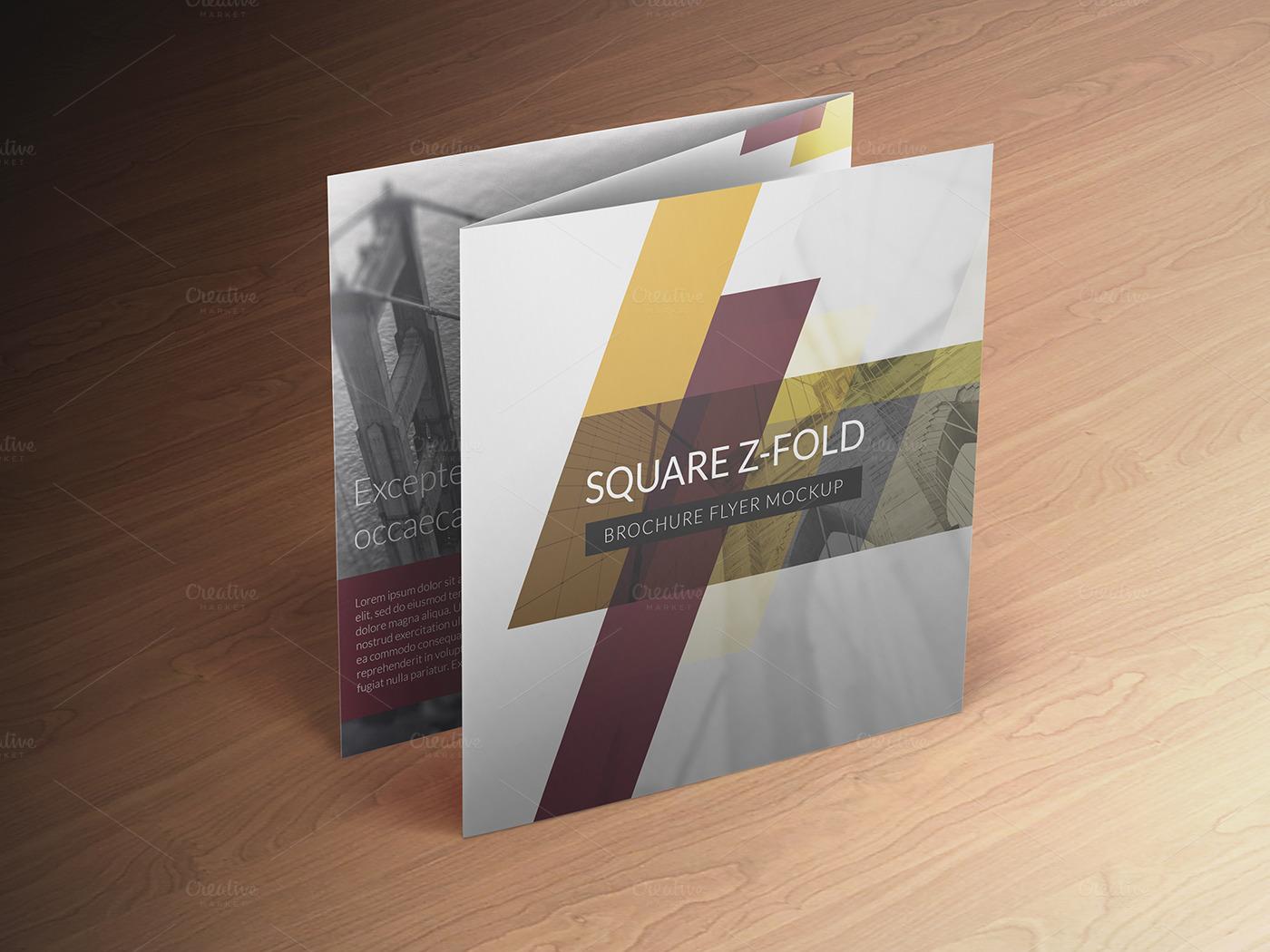 three folded brochure template