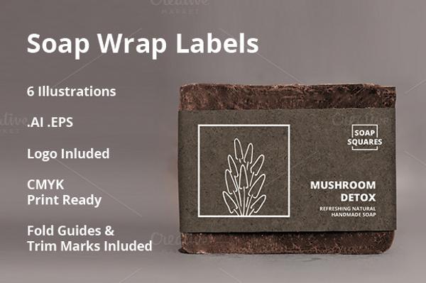 soap label template - Delliberiberi - abel templates psd