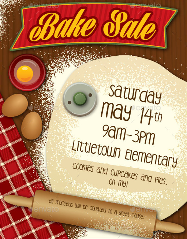 32+ Bake Sale Flyer Templates - AI, PSD, Publisher