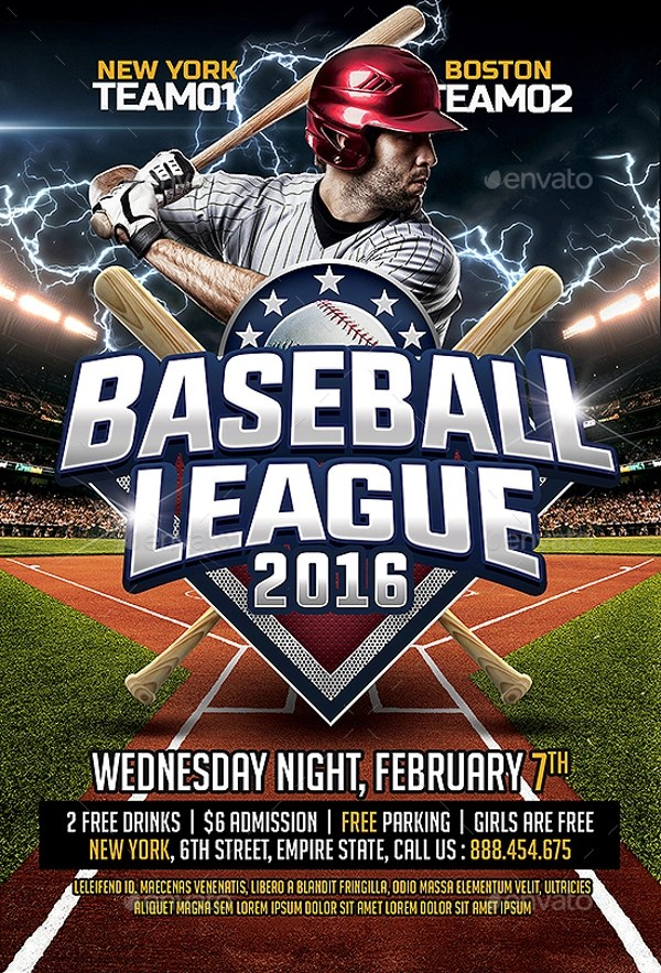 26+ Amazing Baseball Flyer Templates - PSD, Ai, Docs, Pages