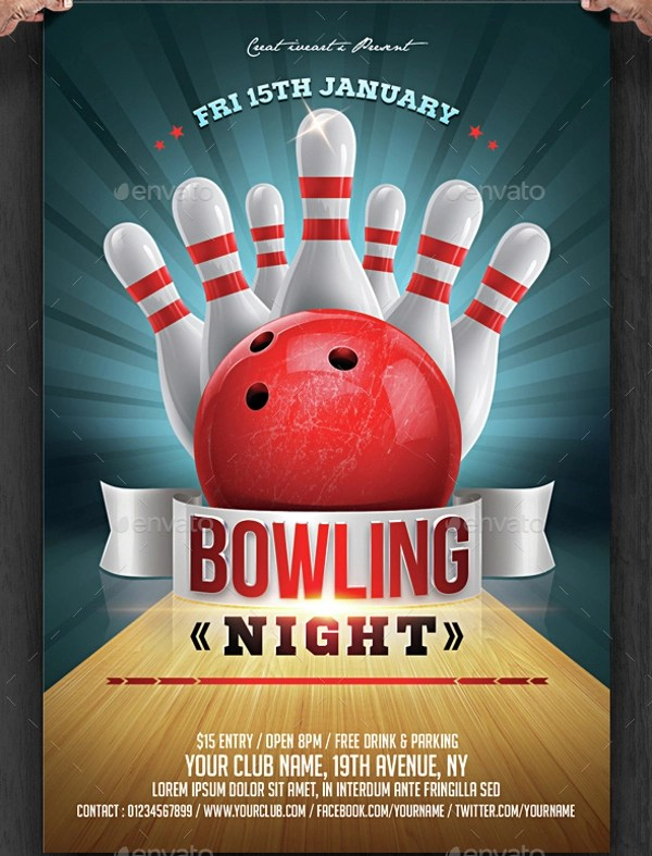 23+ Bowling Flyer - PSD, Vector EPS, JPG Download FreeCreatives