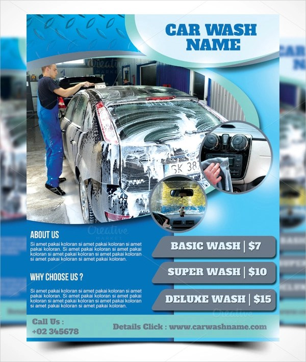 25+ Cleaning Flyers - PSD, AI, EPS Download - car wash flyer template