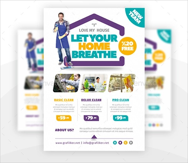 25+ Cleaning Flyers - PSD, AI, EPS Download - house cleaning flyer template