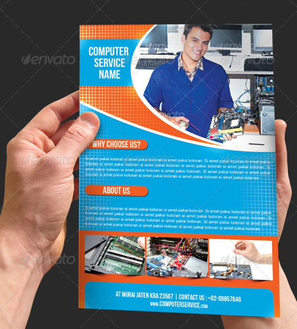 24+ Computer Flyer Templates - PSD, Vector EPS, JPG Download - advertising flyer template